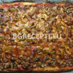 Домашна пица с жарено свинско филе