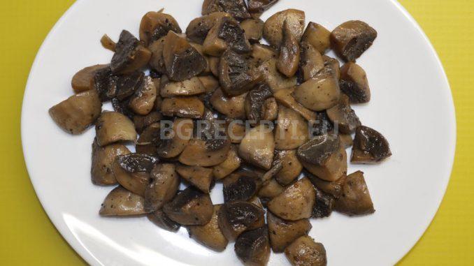 Задушени гъби печурки