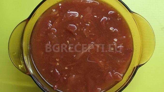 Стерилизирани белени домати за готвене